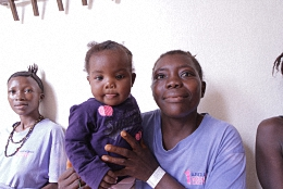 Mother and Child at Aberdeen Womens Center Sierra Leone